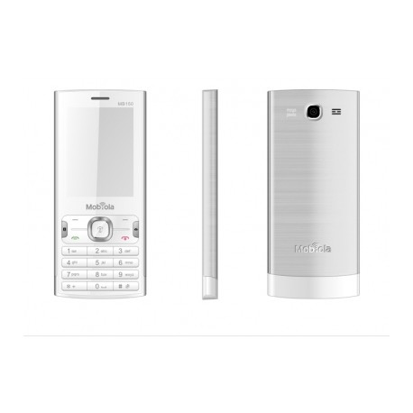 Mobiola MB150 DualSIM barva bílá/stříbrná